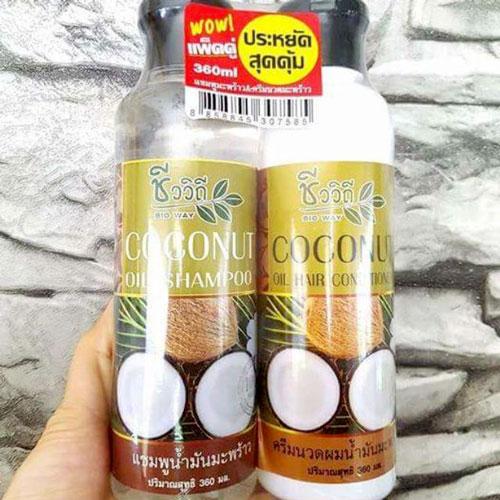 Bộ dầu gội xả Coconut kích mọc tóc Thái Lan 360ml