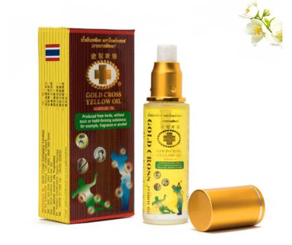 Dầu Thập Tự Vàng Thái Lan- Gold Cross Yellow Oil 48ml (có đầu xịt)