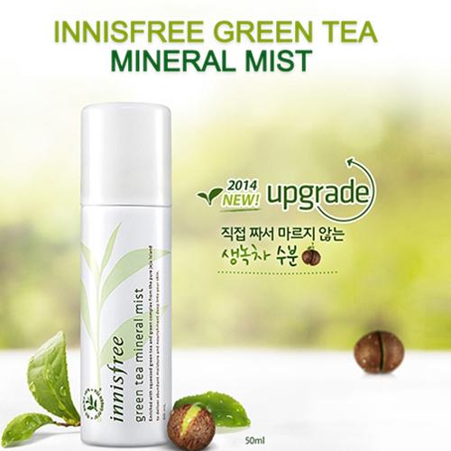 Green Tea Mineral Mist Xịt khoáng trà xanh Innisfree 50ml