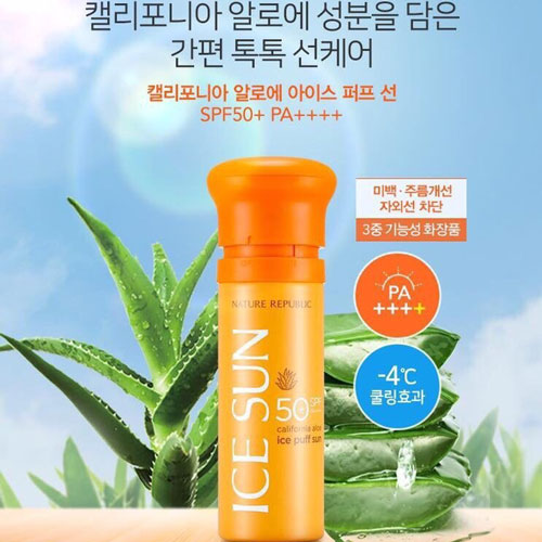 Kem Chống Nắng Nature Republic Ice Puff Sun SPF 50 PA+++