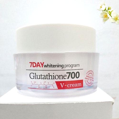 Kem Dưỡng Trắng Da 7 Day Whitening Program Glutathione 700 V-Cream