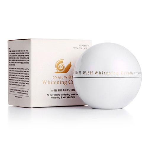 Kem Dưỡng trắng sáng da SNAIL Wish Whitening Cream Hàn Quốc 50gr