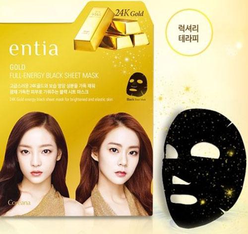Mặt Nạ Vàng Entia Gold Full Energy Black Sheet Mask