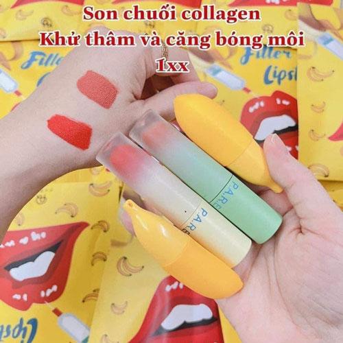 Son Chuối Khử Thâm Môi Căng Mọng Filler Lipstick Banana