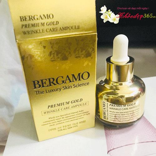 Tinh Chất Dưỡng Trắng Da Bergamo Premium Gold Wrinkle Care Ampoule 30ml