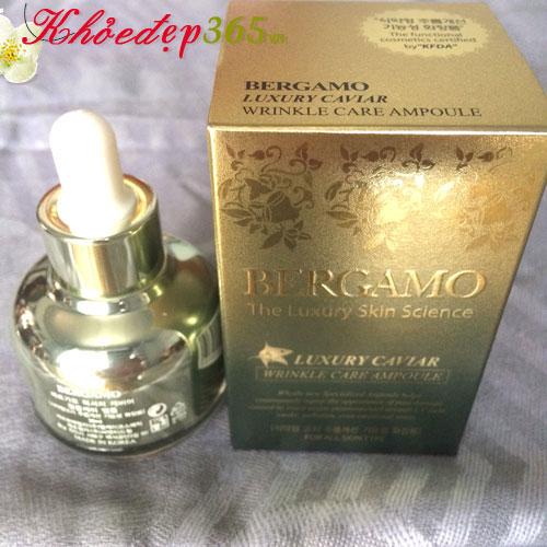 Tinh Chất Xóa Tàn Nhang, Mờ Vết Nám Bergamo Luxury  Skin Science Luxury Caviar Wrinkle Care  30ml