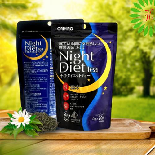 Trà Giảm Cân Orihiro Night Diet Tea Nhật Bản 2g x 20 Gói