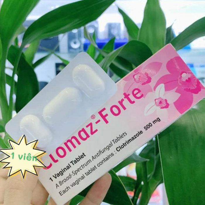 Viên Đặt Trị Nấm, Viêm Nhiễm Phụ Khoa Clomaz-Forte Thái Lan