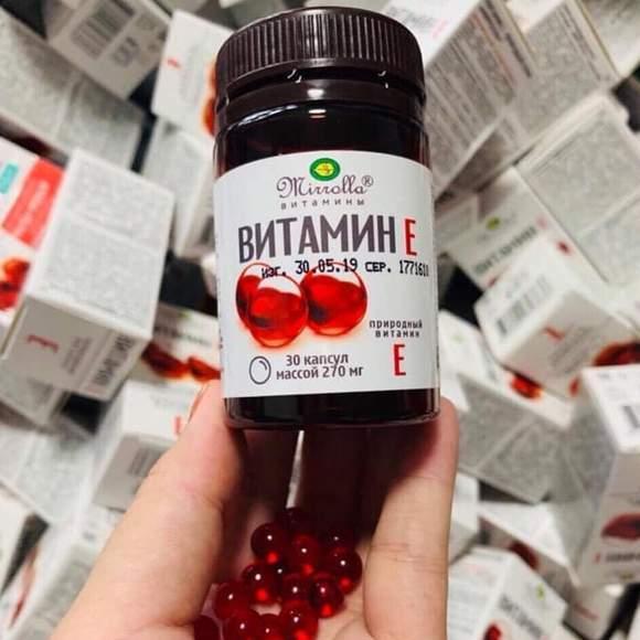 Viên Vitamin E đỏ Mirrolla Nga