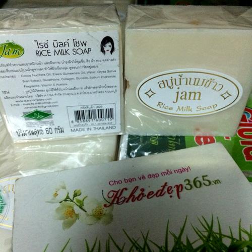 Xà Phòng Sữa Gạo Kích Trắng Jam Rice Milk Soap Thái Lan