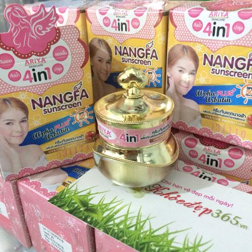 Kem Dưỡng Trắng Da Chống Nắng Che Khuyết Điểm Nangfa Sunscreen Ariya 4in1 SPF 50 Thái Lan
