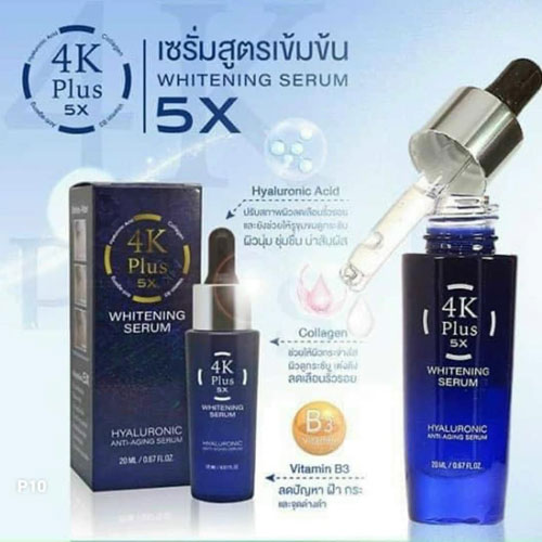 Serum Dưỡng Trắng Da 4K Plus 5X Whitening Thái Lan 20ml