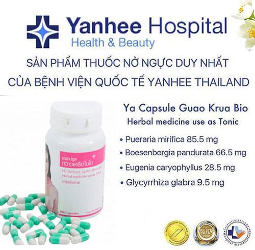 Viên thuốc nở ngực Yanhee Thái Lan